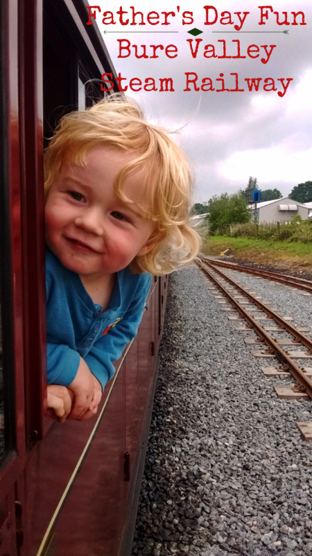Ted and on the Bure Valley Railway