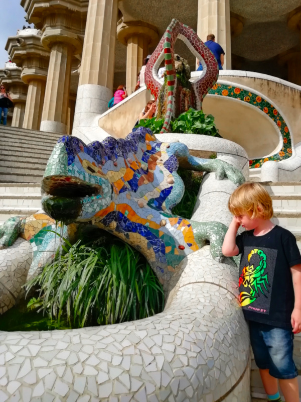 Barcelona with Kids Park Guell