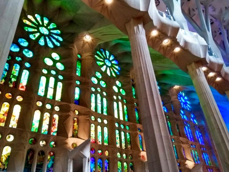 Barcelona with Kids Sagrada Familia Light