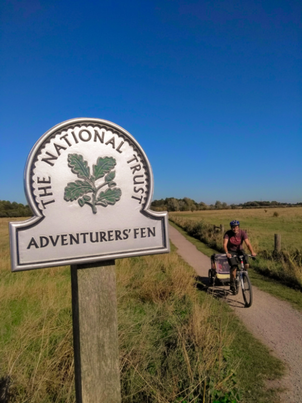 Cycling at Wicken Fen