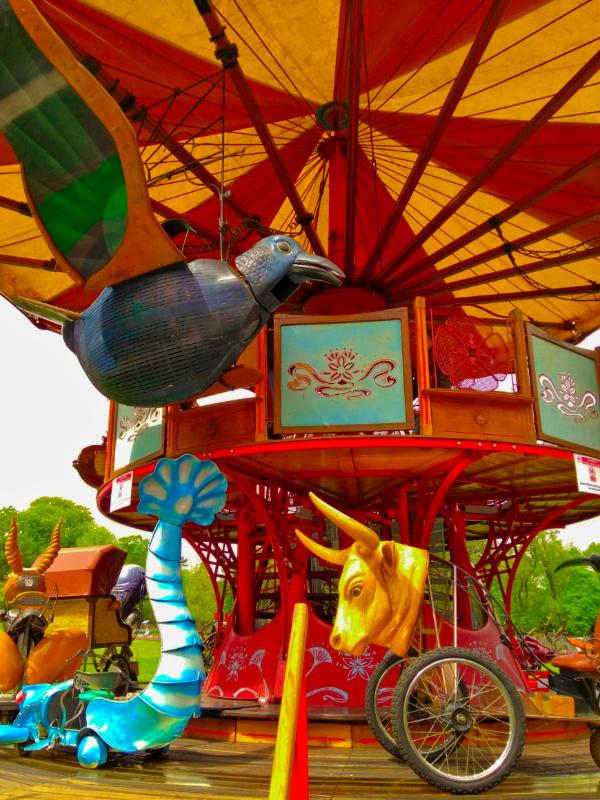 Geneva Botanic gardens carousel