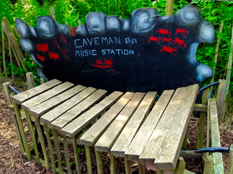 Gulliver's Dinosaur and Farm Park Cave Man Music Station