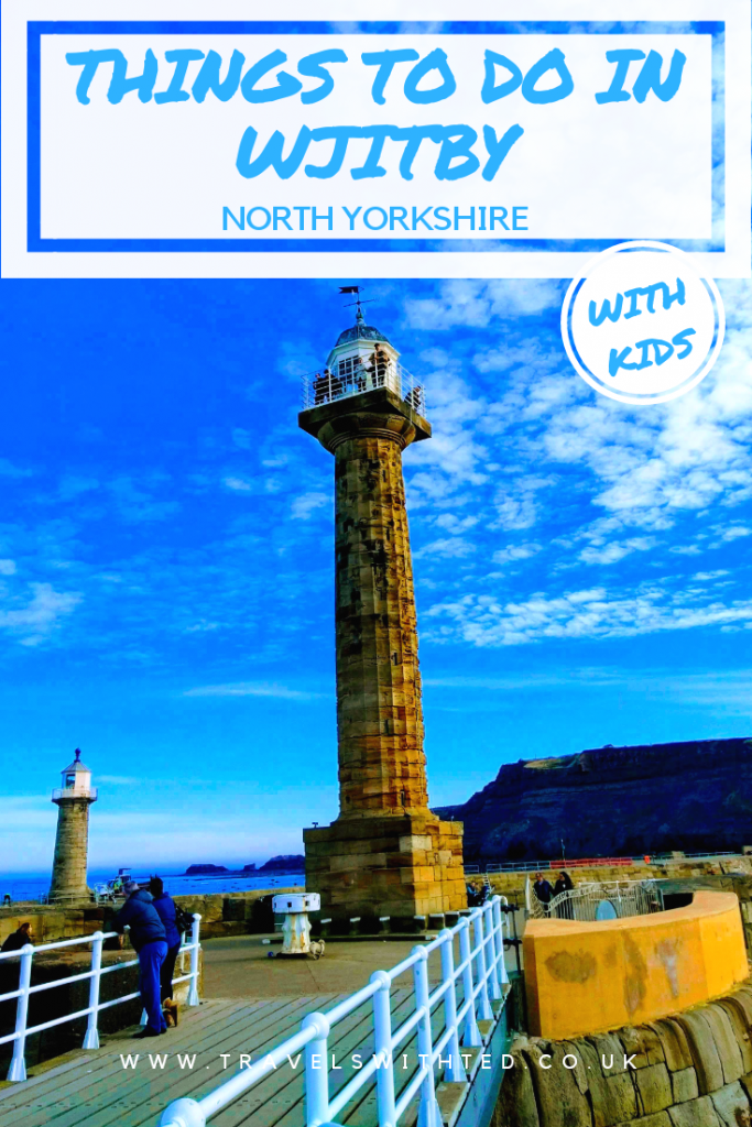 Unusual things to do in Whitby, North Yorkshire with kids. Fossil hunting, Dracula, lighthouse and more