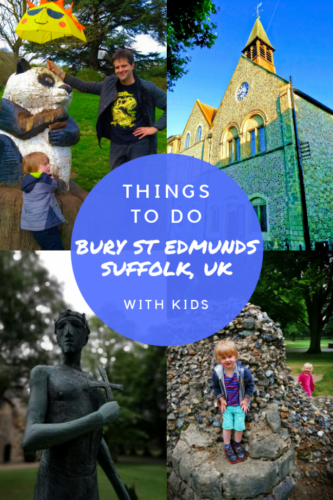 Visiting Bury St Edmunds in Suffolk, UK with kids. Includes Abbey Gardens, Nowton Park, St Edmundsbury Cathedral, Moyse's Hall Museum, parks, markets, history and fun. #suffolk #burystedmunds