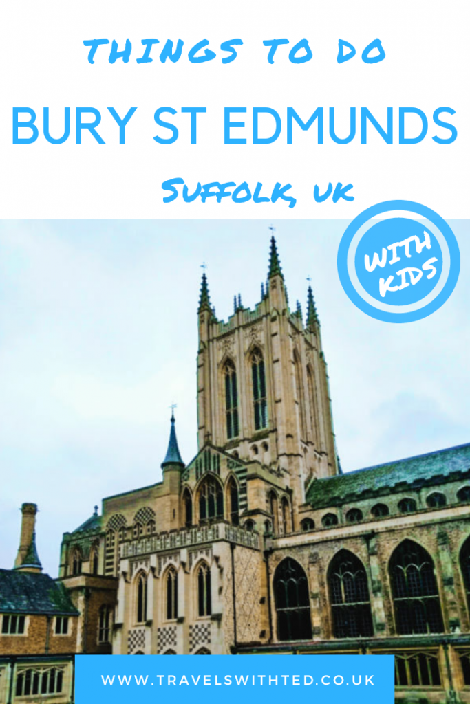 St Edmundsbury cathedral. Bury St Edmunds in Suffolk, UK with kids. Includes Abbey Gardens, Moyse's Hall Museum, parks, markets, history and fun. #suffolk #burystedmunds