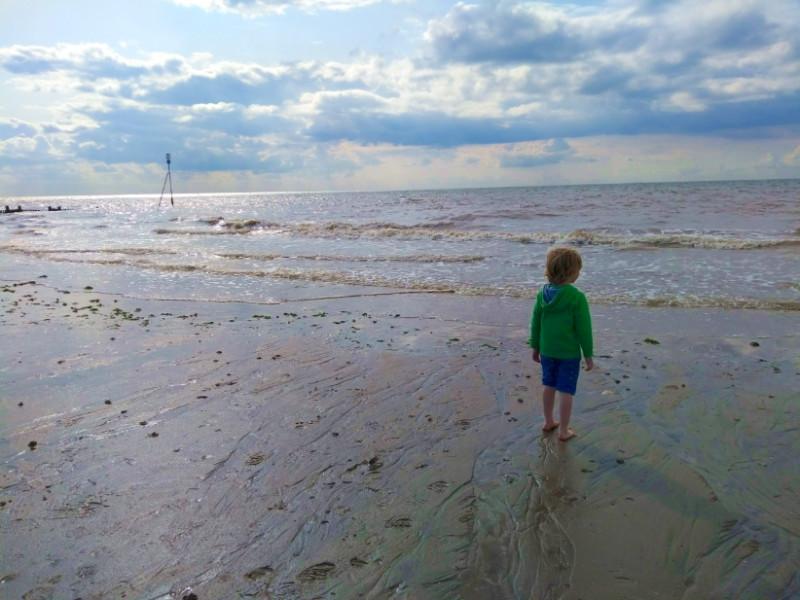 Footprints in the Sand - Hunstanton Beach