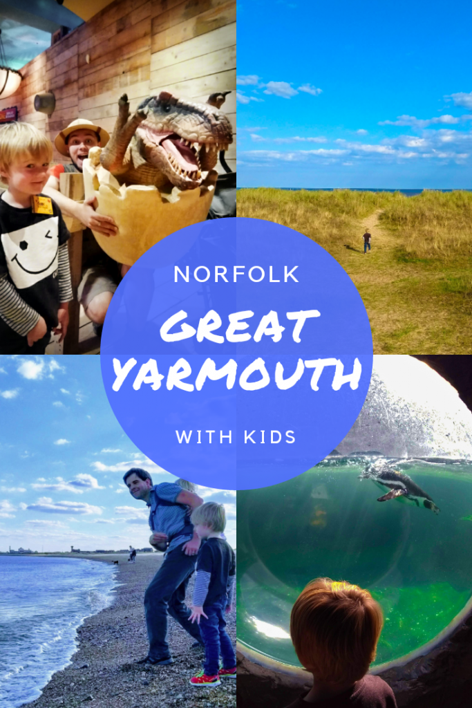 At least 7 things to do in Great Yarmouth, UK with kids. Beach fun, dinosaurs, SEA LIFE centre. Family fun and attractions in Great Yarmouth.