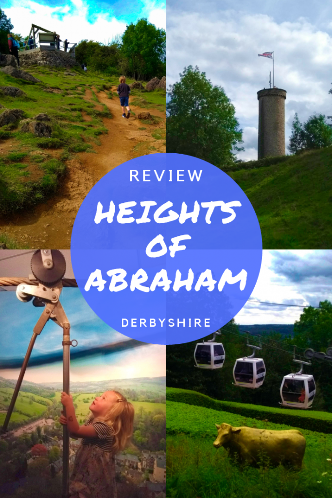 Heights of Abraham in Derbyshire review and fun things to do with kids. Cable car, caverns tour, playgrounds, spectacular views. #derbyshire #travelswithted