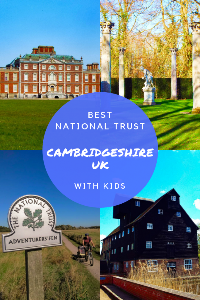 Best National Trust in Cambridgeshire UK. Houghton Mill, Wimpole Hall, Wicken Fen, Anglesey Abbey